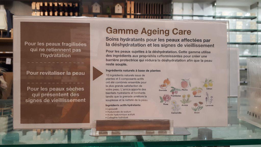 Gamme Ageing Care MUJI