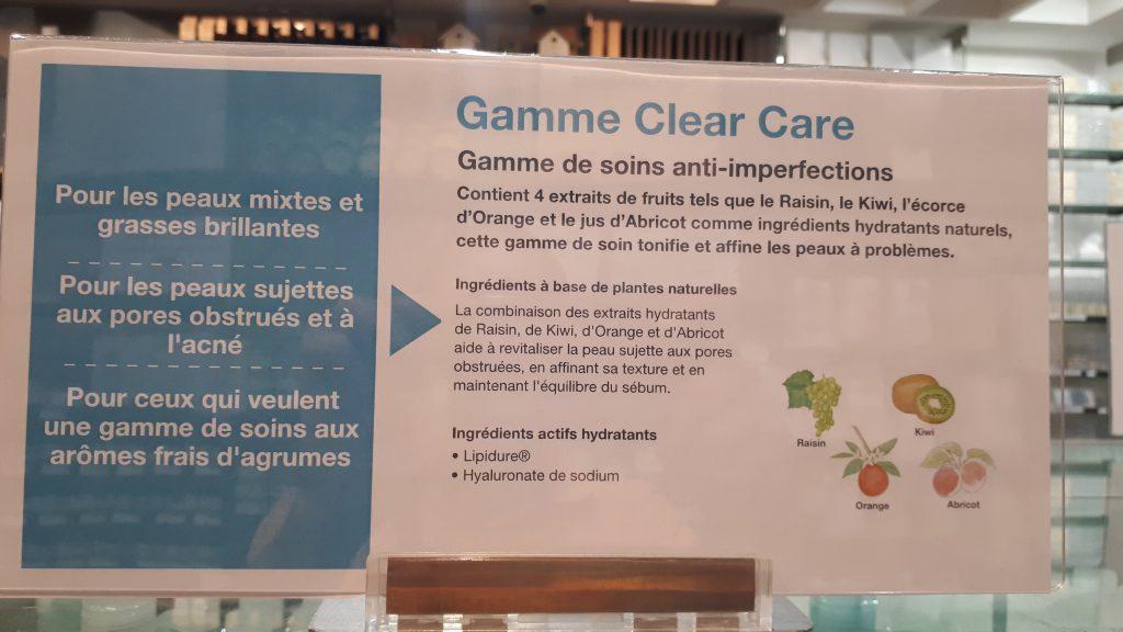 Gamme Clear Care MUJI