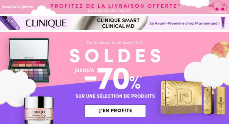 SOLDES d'hier Marionnaud