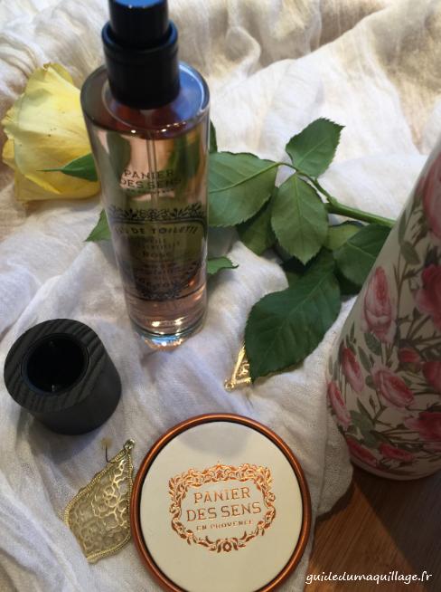 Panier de sens: eau de toilette à l'huile essentielle de rose